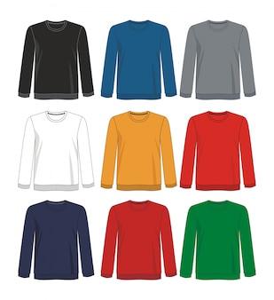 긴 소매 템플릿 셔츠