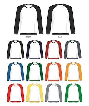 Sweatshirt raglan template