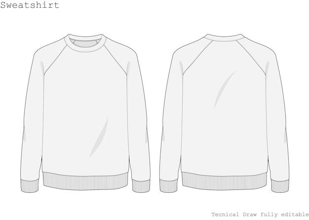 Sweatshirt technical hand draw