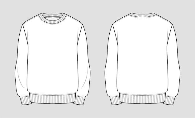 Фуфайка. технический эскиз одежды.