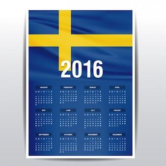 Sweden calendar of 2016