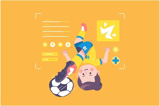 スウェーデンのサッカー選手のかわいいキャラクターデザイン