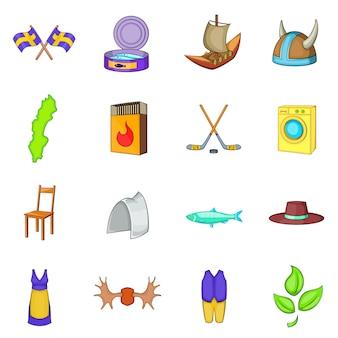 Sweden icons set
