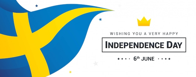 Sweden independence day banner
