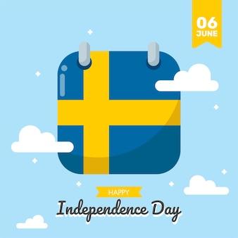 Sweden independence day vector design