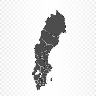 스웨덴지도 격리 된 렌더링
