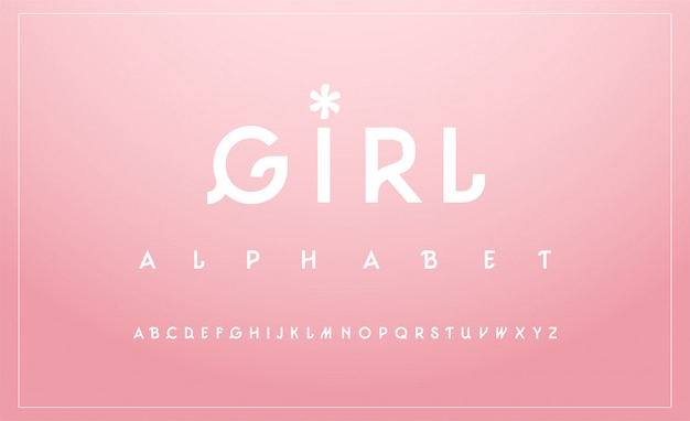 Sweet alphabet uppercase font. typography classic
