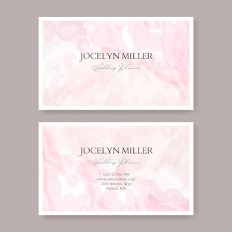Sweet and beautiful business card template with watercolor