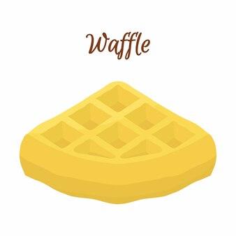 Sweet belgian waffle for breakfast
