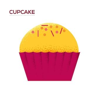 甘いケーキの誕生日のチラシ、雑誌、ポスター、本の表紙、バナー。木目テクスチャとノイズ効果。