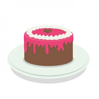 Sweet cake clip-art image