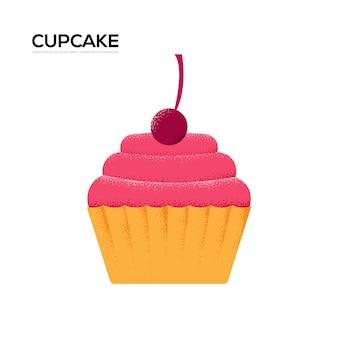 甘いケーキのチラシ、雑誌、ポスター、本の表紙、バナー。木目テクスチャとノイズ効果。