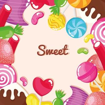 Sweet candies frame
