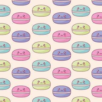 Sweet candies kawaii characters pattern