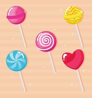 Sweet candies set