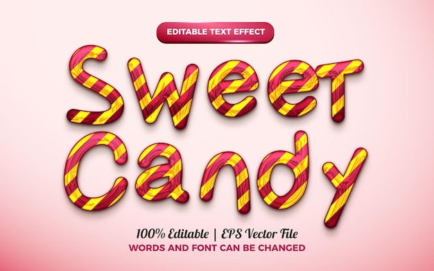 Sweet candy 3d liquid editable text effect