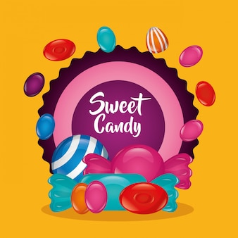 Sweet candy background