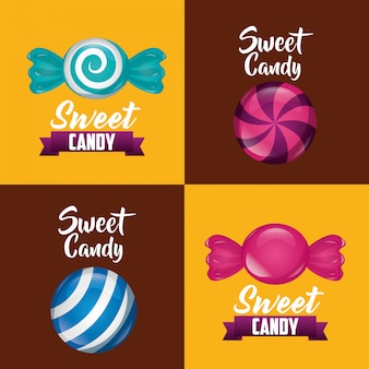 Sweet candy card set