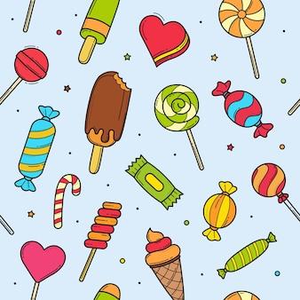 달콤한 사탕한다면 완벽 한 패턴