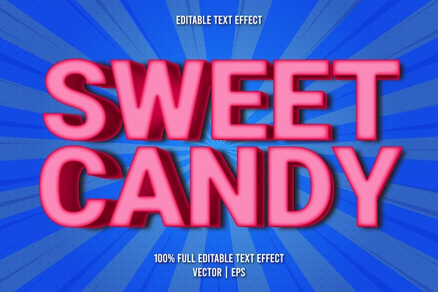 Sweet candy editable text effect comic style