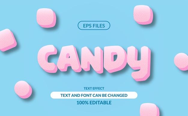 甘いお菓子の編集可能なテキスト効果。