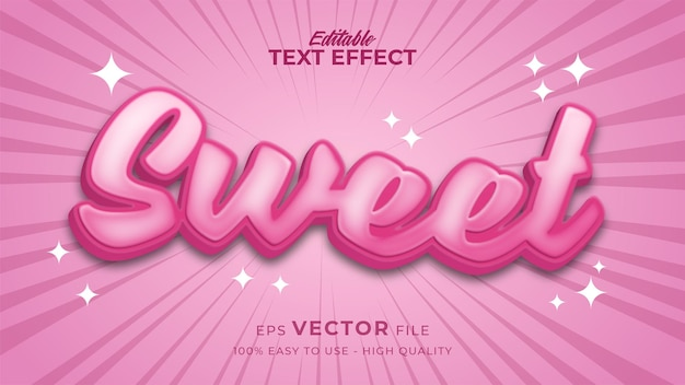 Sweet candy editable text effect