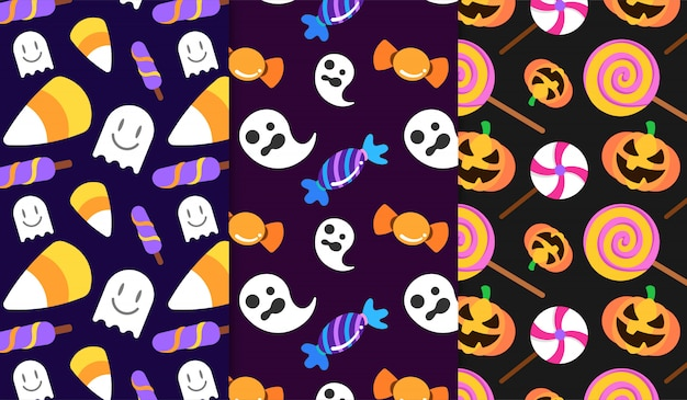 Sweet candy halloween pattern