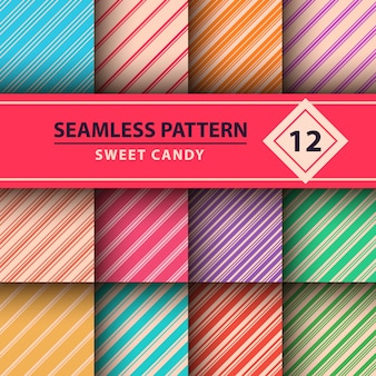 Sweet candy, merry christmas pattern