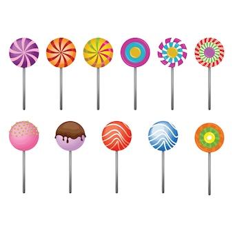 Комплект для коллекции конфет sweet candy stick lollipop