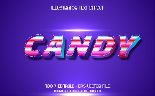 Sweet candy text effect