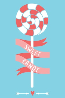 Sweet candy. vector illustration