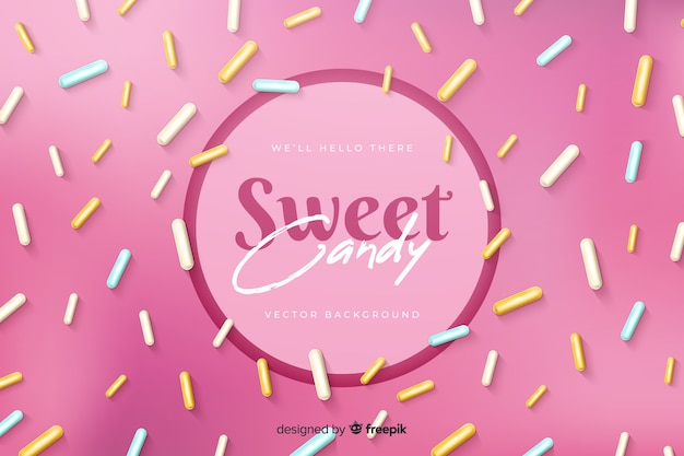 Sweet candy with delicious sugar confetti