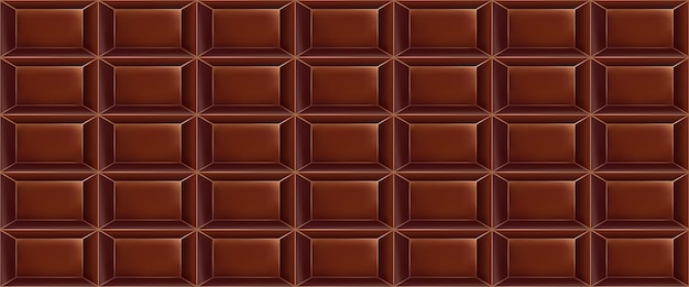 チョコレートバーで作られた甘いチョコレートパターン。シームレスなチョコレートパターン