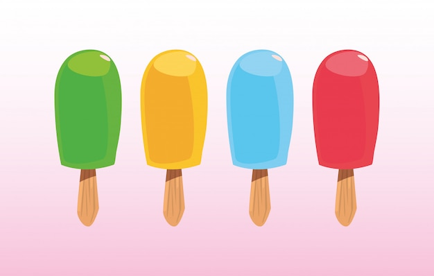 Sweet cold fresh popsicles