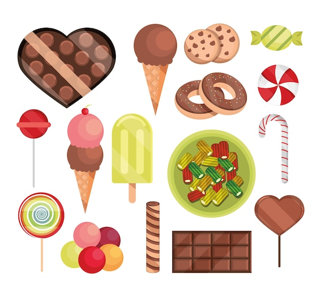 Sweet confectionery candies