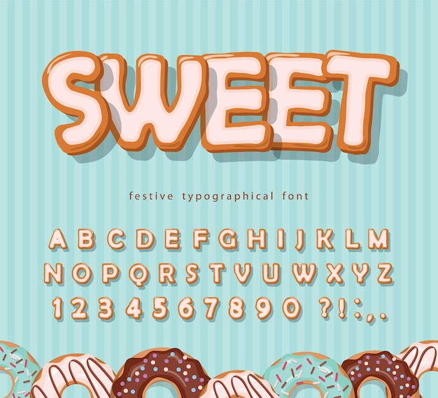 Sweet cookie font illustration