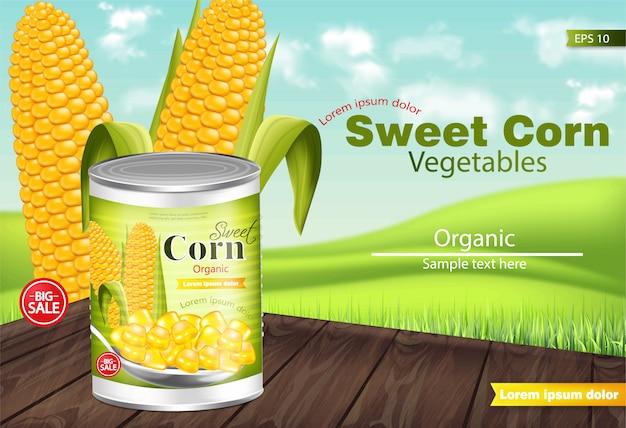 Sweet corn mockup