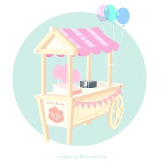 풍선 달콤한 솜사탕 카트