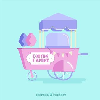 Sweet cotton candy cart