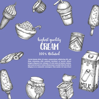 Sweet dairy elements