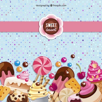 Sweet dessert background