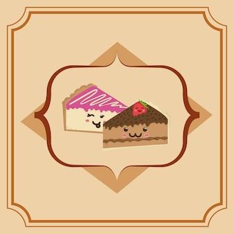Sweet dessert cartoon icon