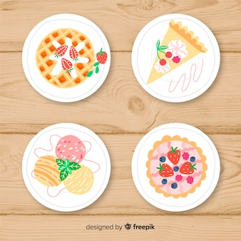 Sweet dishes collection