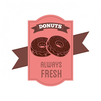 Sweet donuts label