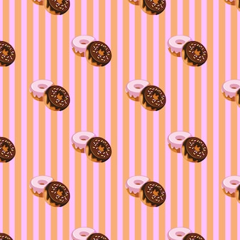 Sweet dougnhut pattern design