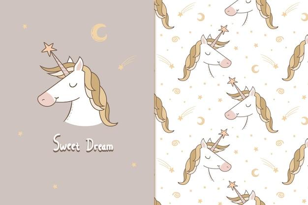 Sweet dream unicorn pattern