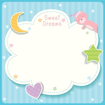Sweet dreams blue template.
