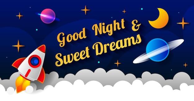 Дизайн сладких снов, векторные иллюстрации eps 10. арт-дизайн для веб-сайтов, рекламы, баннеров, плакатов