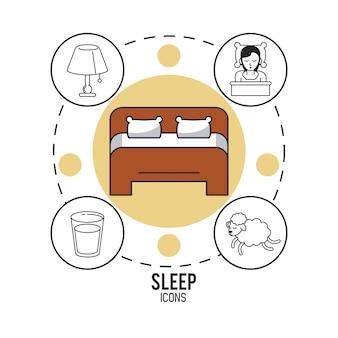 Sweet dreams and good sleep infographic