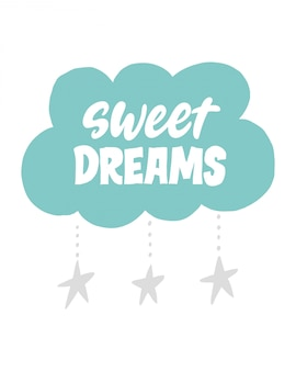 Sweet dreams lettering